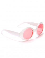Retrobrille runde Brille rosa