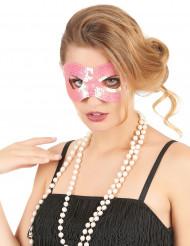 Venezianische Pailletten-Maske rosa