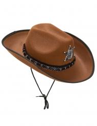 Sheriffhut Wildwest Hut hellbraun
