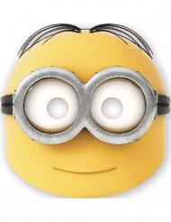 Minion-Kartonmaske Dave Lizenzartikel 6 stück gelb-schwarz