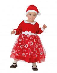 Weihnachstkostüm Prinzessin Schneeflocken für Kleinkinder rot-weiss