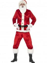 Nikolaus-Kostüm mit Bart, Erwachsene rot-weiß