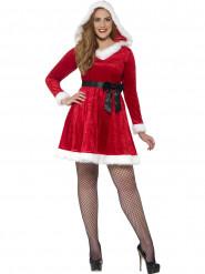Weihnachts-Verkleidung mit Deko-Schlaufe für Frauen - rot