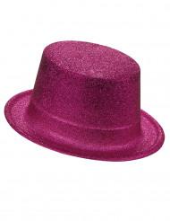 Glitzer-Zylinder Party-Hut pink