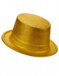 Glitzer-Zylinder Party-Hut gold