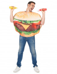 Witziges Burger-Kostüm Unisex bunt