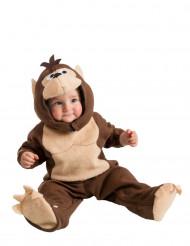Niedliches Affen Kostüm Strampler für Babys braun