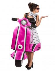 Lustiges Vespa Kostüm 60er Jahre für Frauen schwaz-weiss-pink