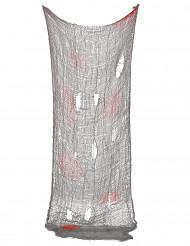 Blutiger Fetzenumhang Halloweendeko grau-rot