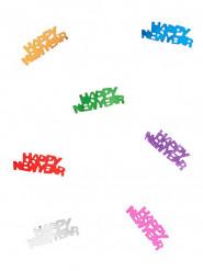 Silvester-Konfetti Happy New Year Tischdeko bunt