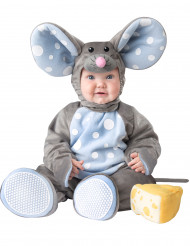 Süßes Mäuschen Maus Kostüm für Babys grau-blau