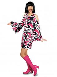 Blumenkind-Verkleidung für Frauen aus den 70ern - mehrfarbig