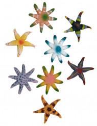 Seestern Meeresparty-Deko bunt 7cm