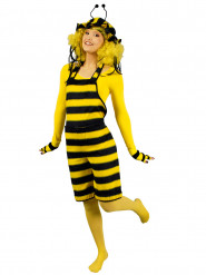 Bienenkostüm Latzhose mit Haube gelb-schwarz