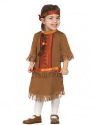 Kleine Indianerin Babykostüm Wilder Westen braun