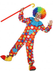 Clowns Kostüm gepunktet für Kinder bunt