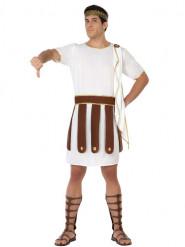 Römischer Soldat Kostüm Gladiator Plus Size weiss-braun