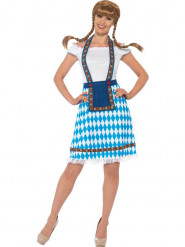 Bayerin Kostüm Damen blau-weiß