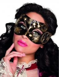Augenmaske Steampunk für Erwachsene schwarz-gold