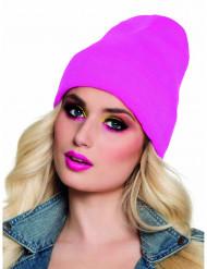 Mütze Wintermütze für Erwachsene neonpink
