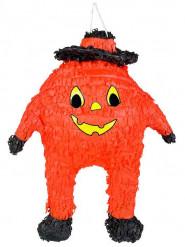 Kürbis-Pinata Halloween-Partyspiel orange-schwarz-gelb 48x38cm