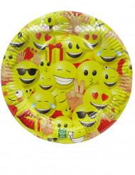 Pappteller Party-Teller Gesichter 10 Stück bunt 23cm