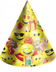 Papierhüte Partyhüte Party-Zubehör 6 Stück bunt 16cm