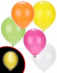 Illooms LED-Luftballons Party-Deko 5er-Set Sommer gemischt bunt 23cm