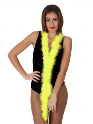 Federboa - Karneval-Accessoire - 185 cm - gelb