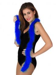 Karneval-Federboa 185 cm in Blau