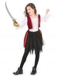 Kleine Piratin-Kinderkostüm Seeräuberin bunt