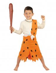 Höhlenmensch Steinzeit Kinderkostüm für Jungen orange-schwarz