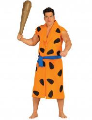 Höhlenmensch-Männerkostüm Steinzeit orange