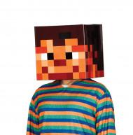 Pixel-Kartonmaske Kostümzubehör bunt 30x30cm