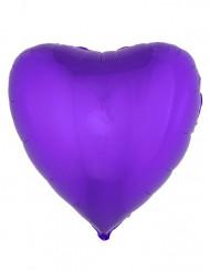 Herzförmiger Folienballon 45 cm, violett