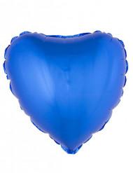 Herzförmiger Folienballon, blau