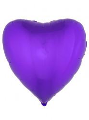 Folienballon Herz 76 cm - violett
