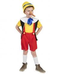 Kleiner Lügner Kostüm für Jungen rot-gelb