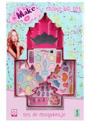 Schminkset Prinzessinnen-Schloss für Mädchen, rosa