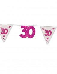 30. Geburtstag Girlande Party-Deko pink 6m