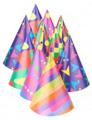 Papierhüte Partyhüte Party-Zubehör 10 Stück bunt 16cm