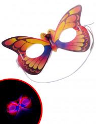 Leuchtende Maske Schmetterling mit Leuchtstäben bunt