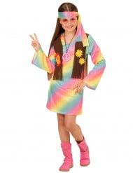 Süsses Hippie-Mädchen Kinderkostüm 60er-Jahre bunt