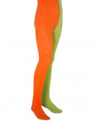 Pippi Langstrumpf Kinder-Strumpfhose Lizenzware orange-grün