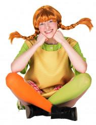 Pippi Langstrumpf Perücke für Erwachsene Lizenzware orange
