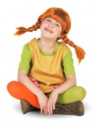 Pippi Langstrumpf Kinderperücke Lizenzware orange