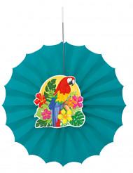 Hawaii Rosette Party-Deko bunt 30cm