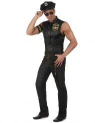 Polizist-Herrenkostüm Uniform schwarz