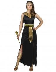 Göttin vom Nil-Damenkostüm Kleopatra schwarz-gold