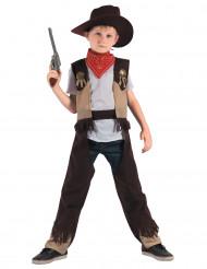 Cowboy-Kinderkostüm Sheriff braun